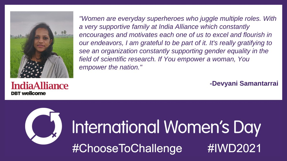 Devyani Samantarrai is a Grants Adviser at @India_Alliance 🙌  This #WomensDay , she has a point about #WomenEmpowerment you can't miss - when you empower a woman, it's not just her alone!👥  #IWD2021  #WomenSupportingWomen