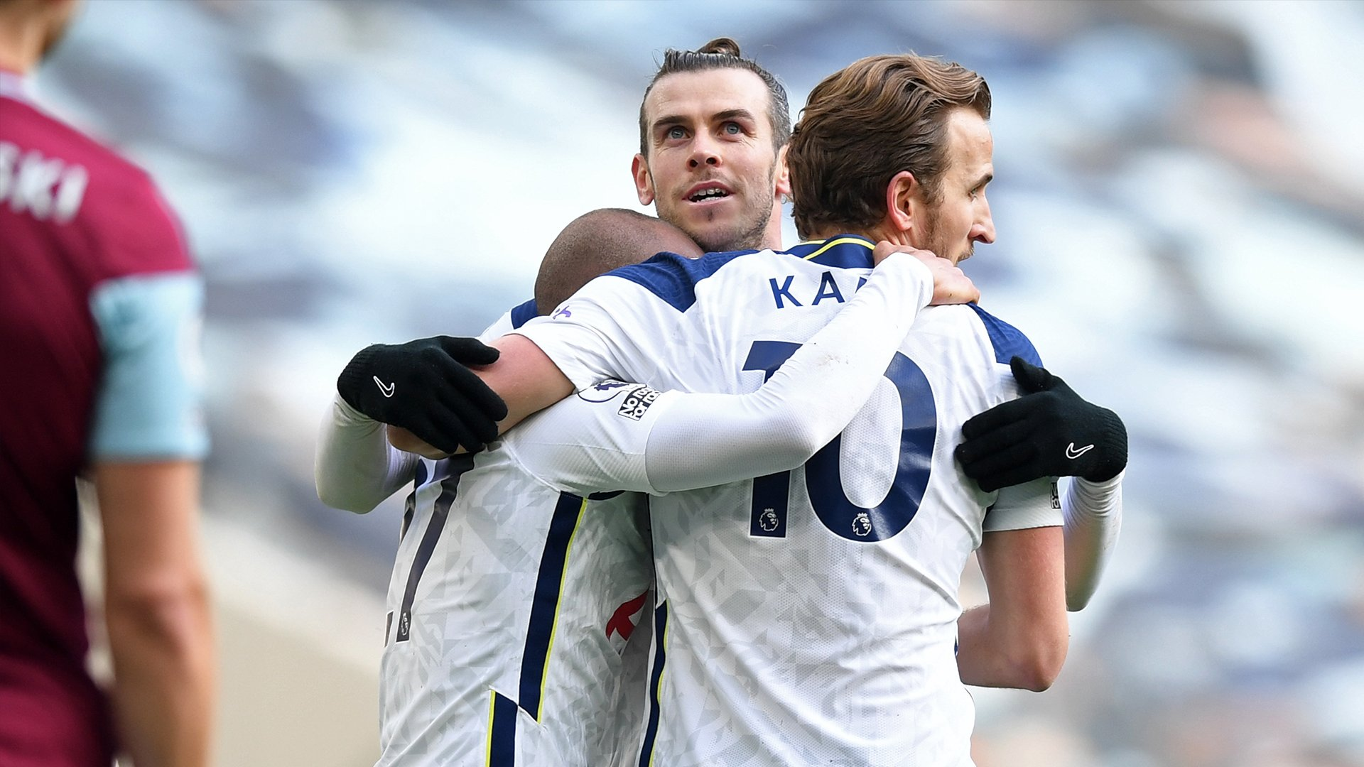 Players celebrate against Burnley