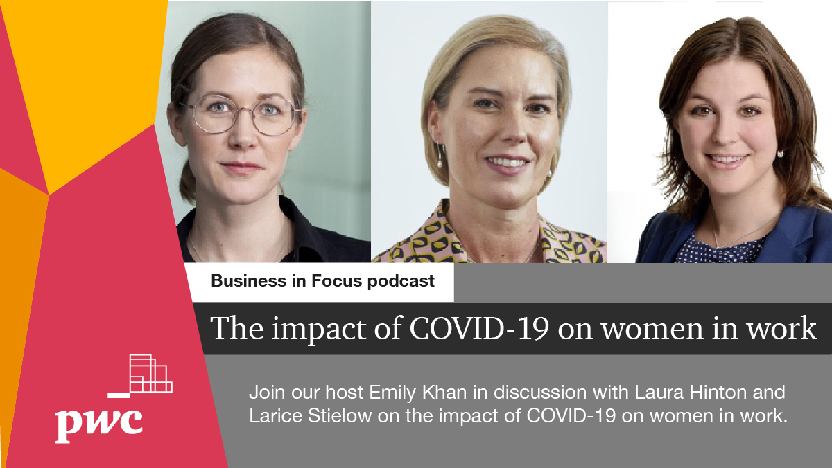 Happy International Women's Day! To mark the day, @LauraHintonPwC & Larice Stielow join @EmilyKhan11 to discuss the impact of COVID-19 on #WomenInWork - and share how they #ChooseToChallenge bias every day. Listen to the #BusinessInFocus podcast:  #IWD2021