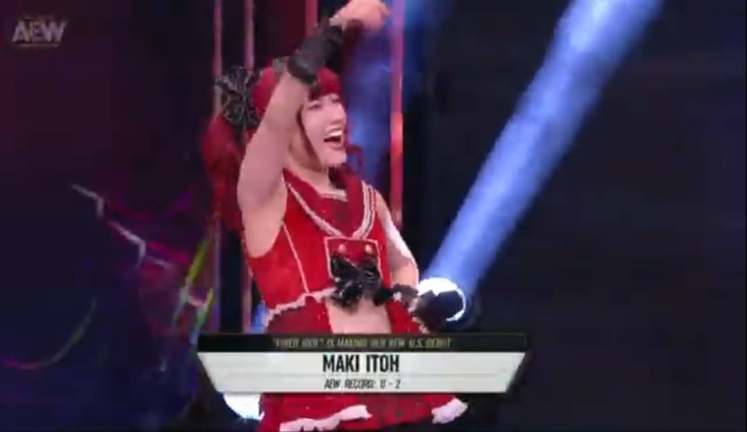 i have been reading comments like who is maki itoh. i mean just watch the eliminator tournament. even if you dont watch it, her pics was on AEW TV and social media #allelitewrestling #aewwrestling #aew #aewdark #makiitoh #joshiwrestlers #aewrevolution #brittbaker