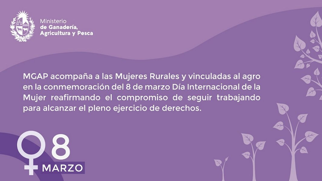 test Twitter Media - RT @MGAPUruguay: #DiaInternacionalDeLaMujer #MesdelasMujeres #MujeresRurales https://t.co/8gvYE3yRb6