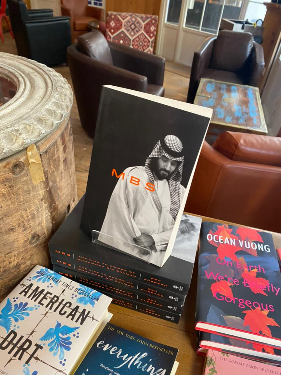 Good news for everyone in Lebanon who as asked me where to buy 'MBS: The Rise to Power of Mohammed bin Salman.'   For sale now at Aaliya's Books in Beirut.  Thanks to @rebeccacollard for the pic. https://t.co/ll0TcHRFnc