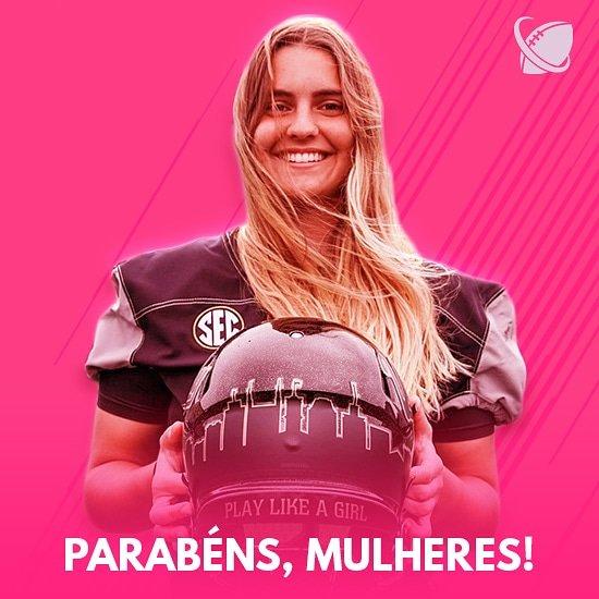 8 DE MARÇO!  Um parabéns para todas as mulheres por esse e por todos os dias do ano. Sigam firmes na sua luta por respeito e representatividade!  #NFL #NFLBrasil #InternationalWomensDay