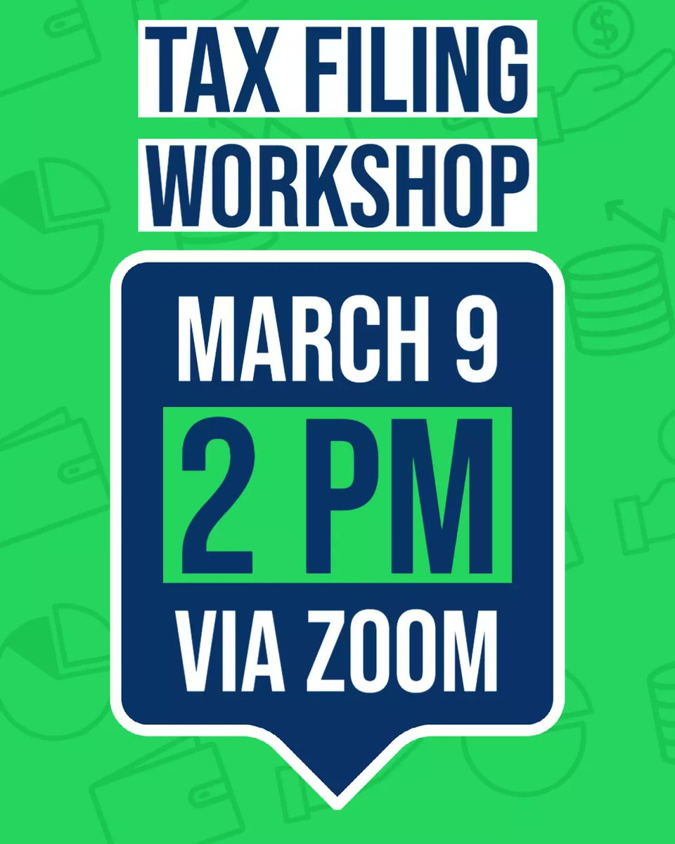 International Students: Did you know you are required to file taxes? March 9th, Cynthia Martinez, Exec. Director of OIP, will hold a session on Filing Taxes as an INTERNATIONAL Student.  Join in at 2 PM via Zoom:  #taxworkshop #refund #filetaxes2021