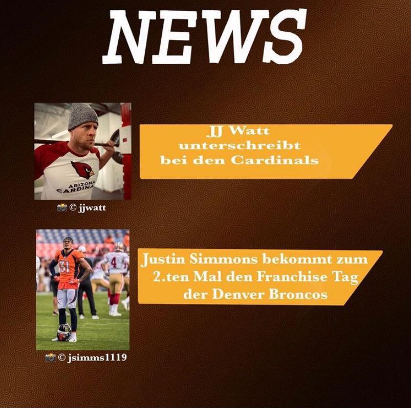 Die neue Podcast Folge ist online. In dieser Folge geh es um #jjwatt #justinsimmons #tombrady #washingtonfootballteam und mehr. Hört gerne rein🏈 #rannfl #nfl #nfldeutschland #americanfootball #podcast #sportpodcast