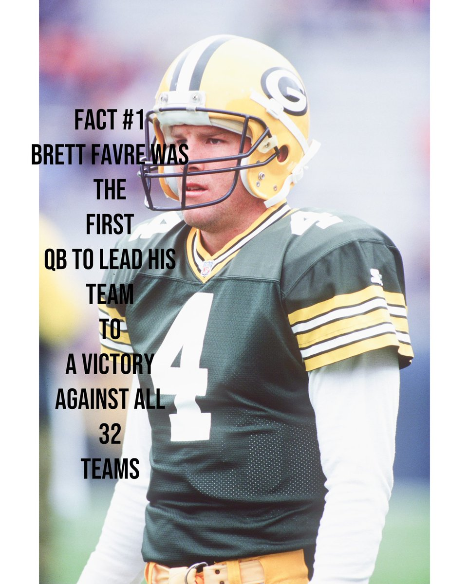 Fact # 1 Brett Favre was the first QB to lead a victory against all 32 teams   #sports #studentathlete #football #packers #nfl #business
