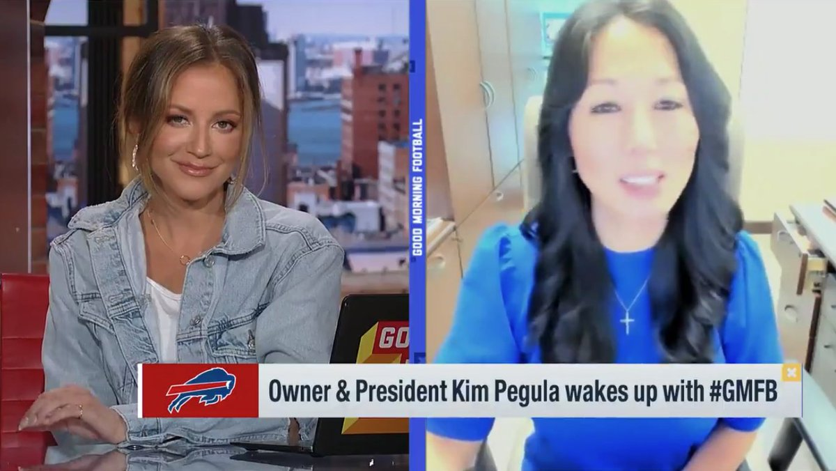 """I'm really encouraged that we're seeing more women in different roles throughout the NFL. There's still work left to be done but we are heading in the right direction."" #InternationalWomensDay   @KimPegula 