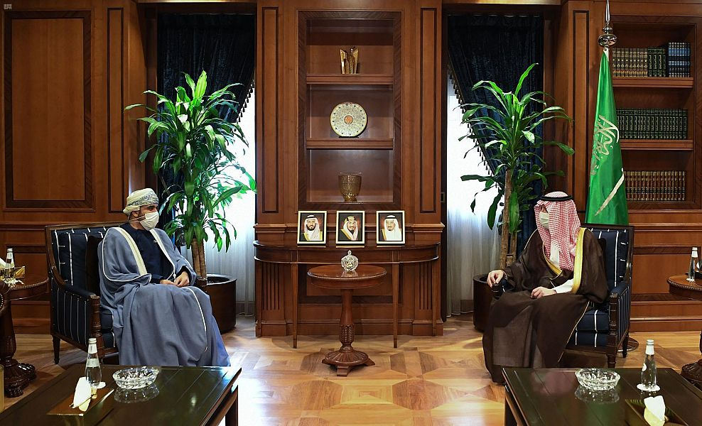 عادل الجبير يستقبل سفير سلطنة عمان لدى المملكة