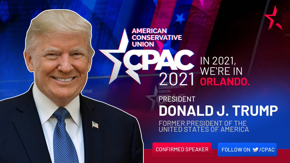They have tried to cancel our values and now our voices. The time for silence is over. @CPAC is pleased to announce President Donald Trump who will help us #uncancel America and stop socialism. #CPAC2021
