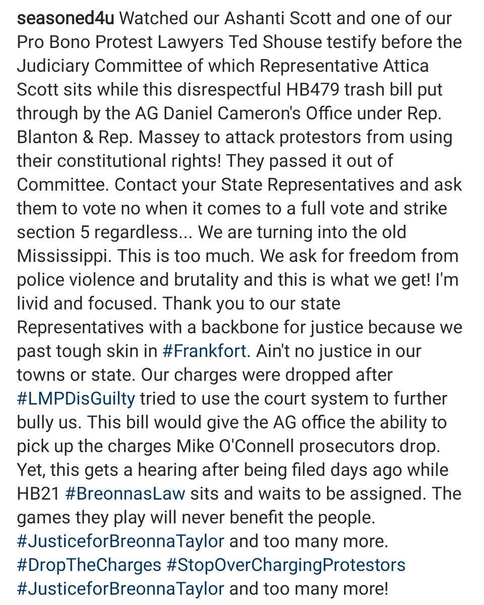 #JusticeforBreonnaTaylor #DropSection5 on #HB479 #protectusfromtheAGoffice