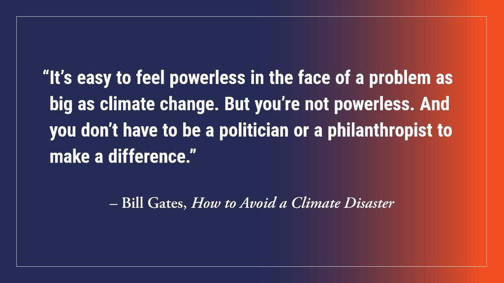 ".@BillGates is hopeful that we can avoid a climate disaster because ""whether you're a believer in [the power of] the private sector, or government intervention, or activism, or some combination, there's a practical idea you can get behind.""   Read more:"