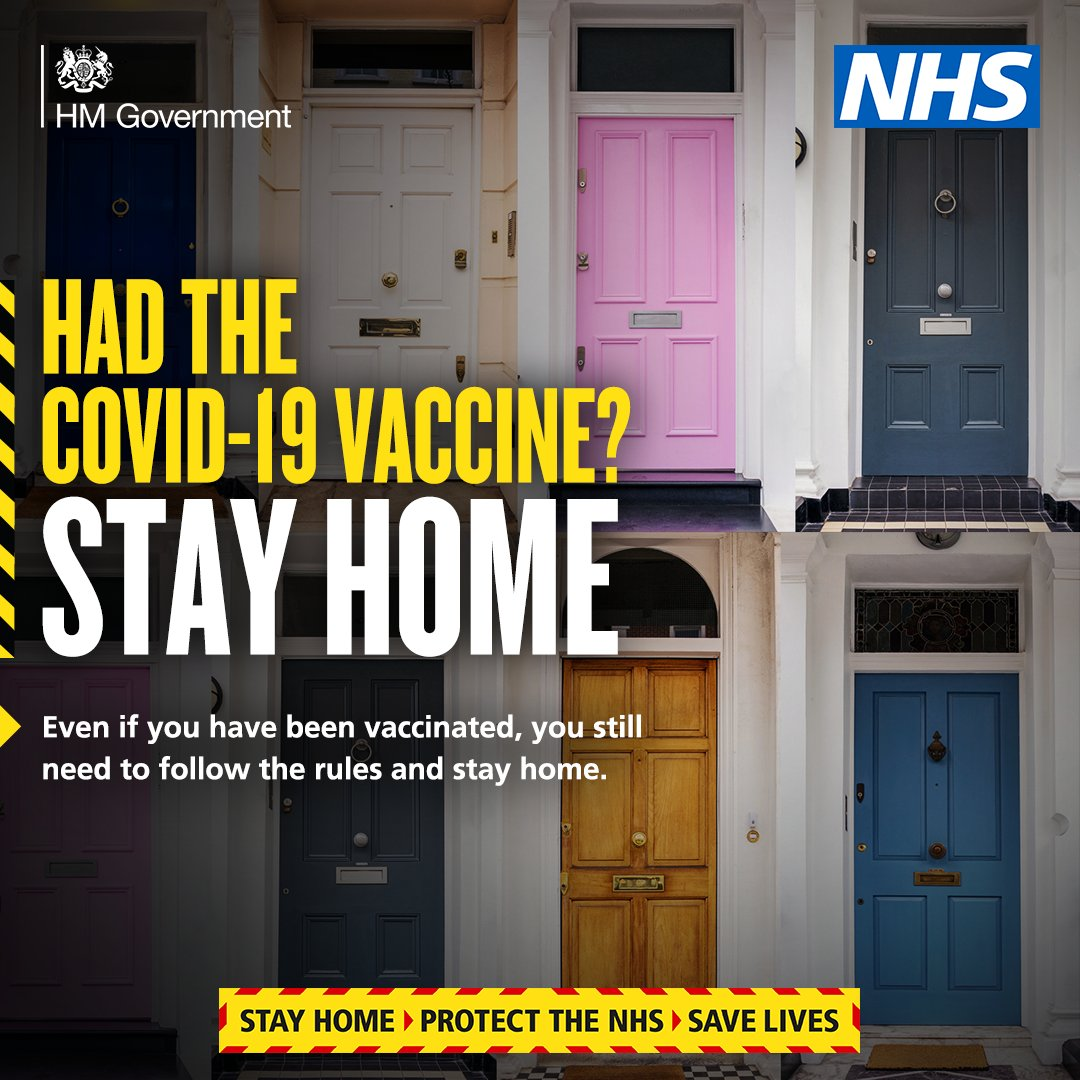 You still need to follow the rules and stay home, even if you've been vaccinated…