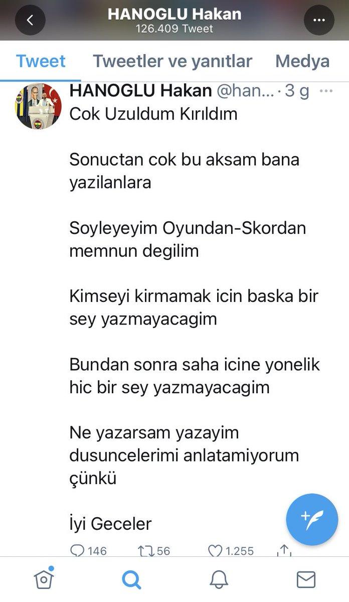 Her konu hakkında yorum paylaşım vs. yapan Fenerbahçe haklarını savunuyormuş gibi gözüken Fenerbahçeli Hakan Hanoğlu Göztepe maçından sonra çok savunduğu Hocası ve Başkanı yüzünden laf yiyince duygusal edebiyatı yapmış. Hocaya Başkana tek bir eleştiri yapamamış. https://t.co/FrTomG3yLP https://t.co/FWb1Lua0XR