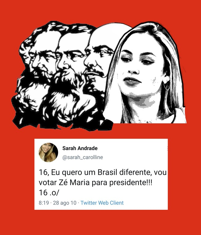 Se assim como a Sarah você quer um Brasil diferente, venha conhecer o PSTU!