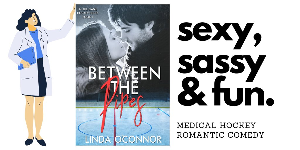 She's a family doc in a hockey-crazy town. She hates #hockey. He's a starting goalie and not about to let a rookie #doctor call the shots. When they have to work together, sparks fly and ice melts.  BETWEEN THE PIPES #99c    #romance #medical #KU