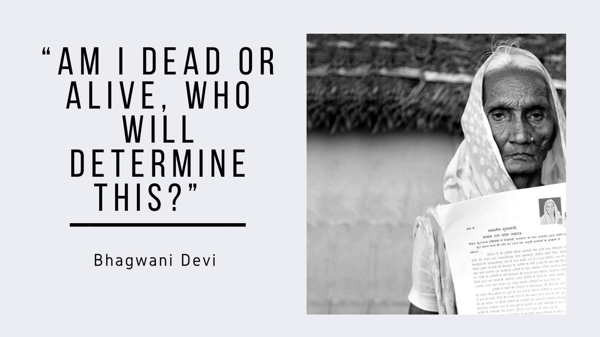Bhagwani Devi, a 70-year-old widow had no idea about how and when she was declared dead Watch her interview to know how she is fighting to stay 'alive' :  #Kaagaz #CommonMan #MritakSangh