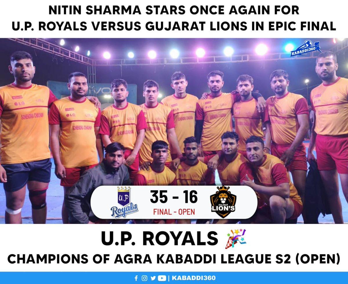 U.P. Royals are the champions of AKL Season 2 🥳🎉 Congratulations to the winning team!   #AgraKabaddiLeague #KabaddiResults #Kabaddi360