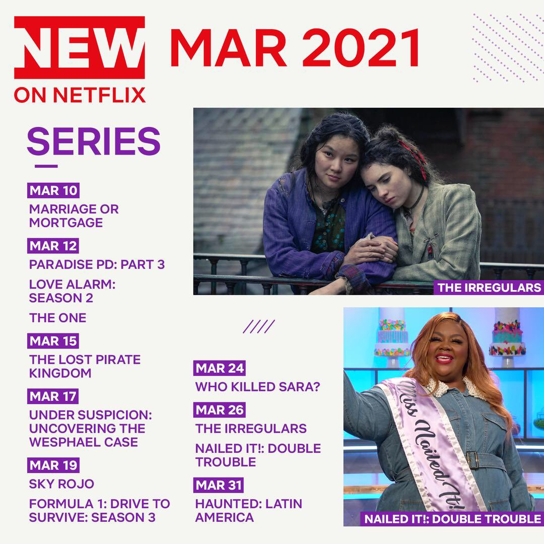 Replying to @netflixqueue: Here's a sneak peek at some of what's coming to Netflix US in March!