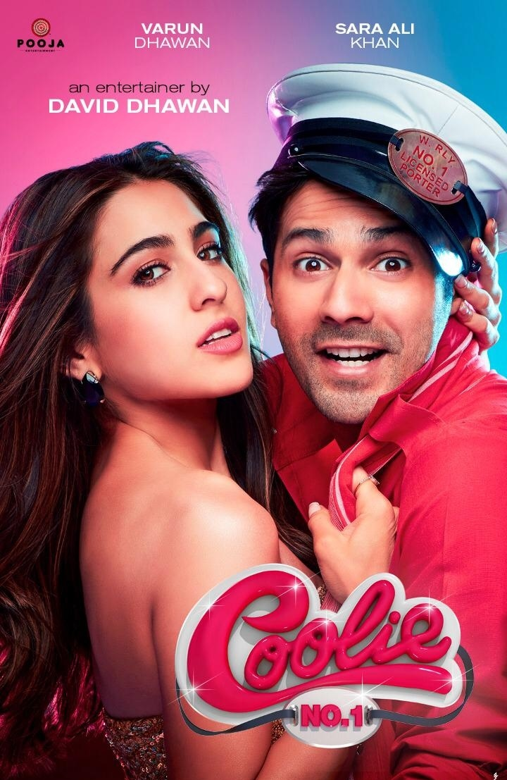 Watched #VarunDhawan 'S #CoolieNo1  Movie Was Full Comedy & Family  Entertainer,💯 I Really Enjoyed ❤️ My Cutie Pie @Varun_dvn His Acting,  Dance All Superb, #SaraAliKhan Looks, Cuteness Too Good,  Chemistry b/w Sara and Varun🔥 And Songs 👌🏻 Entire Cast Has Done Good Job 🌟🌟🌟🌟