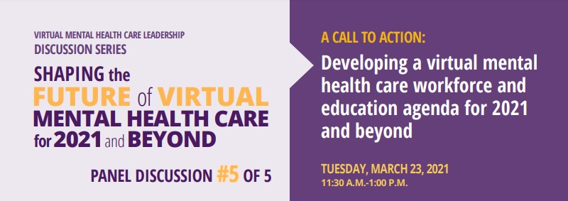 On March 23, @CAMHnews will be hosting a virtual mental health care leadership discussion series on the future of virtual mental health Learn more or register at:  #BellLetsTalk