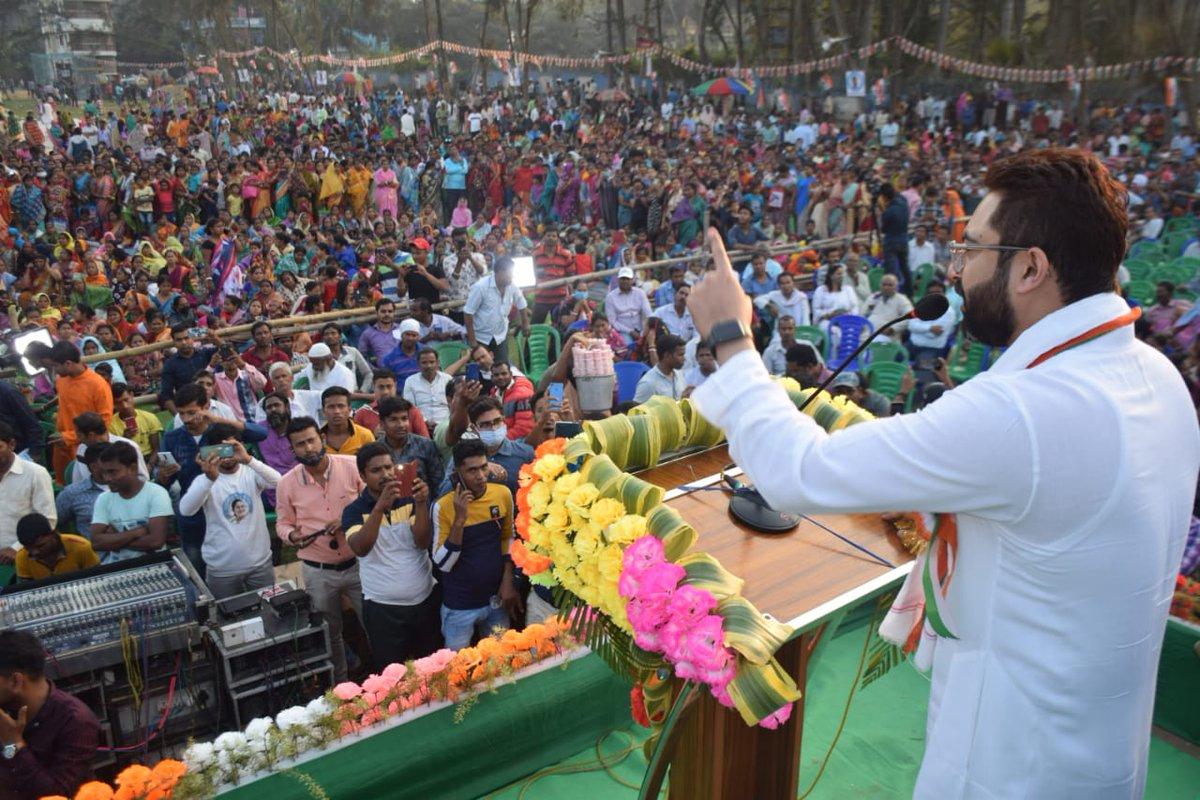 Few glimpses from today's Public meeting at Ramnagar, Purba Midnapore.   @AITCofficial @MamataOfficial @abhishekaitc   #AITC #TMC #TrinomoolCongress #PublicMeeting