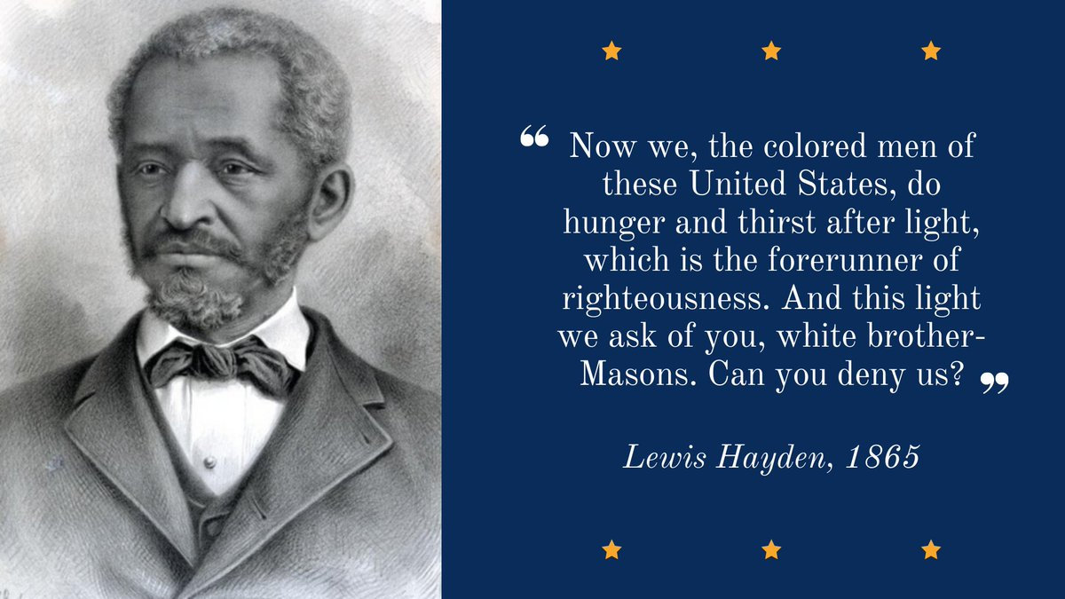 Lewis Hayden was born into slavery and escaped to Boston by way of the Underground Railroad.  A prominent activist, Hayden fought tirelessly to protect fugitive slaves & desegregate Boston public schools, & was later elected to the state legislature. https://t.co/c8QwlJcF3C