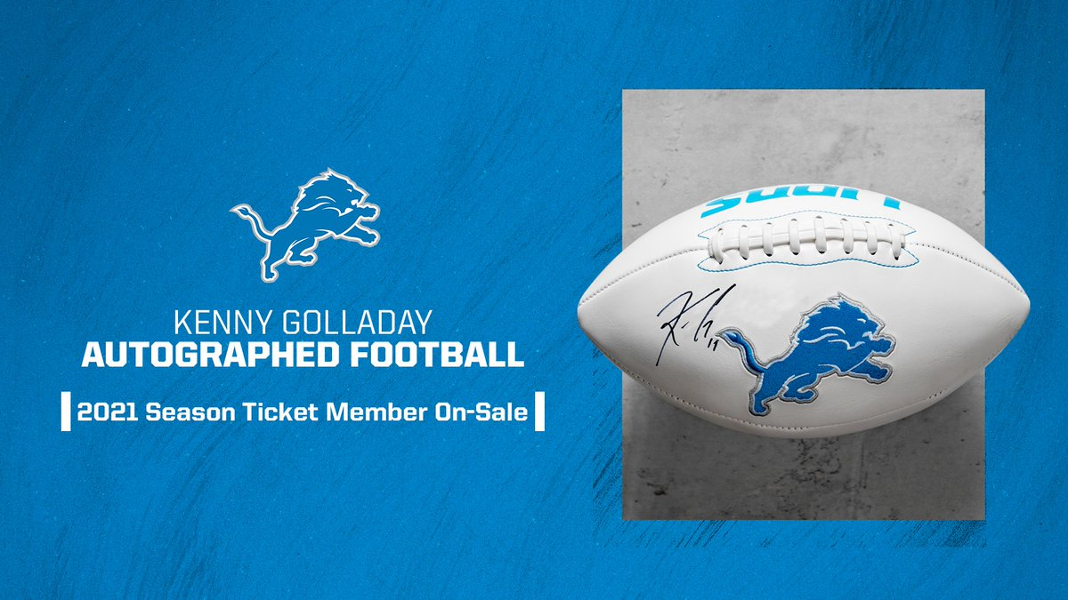 First 4 accounts to buy from 4-6 PM ET will receive an autographed Kenny Golladay football.   We need you ➡️