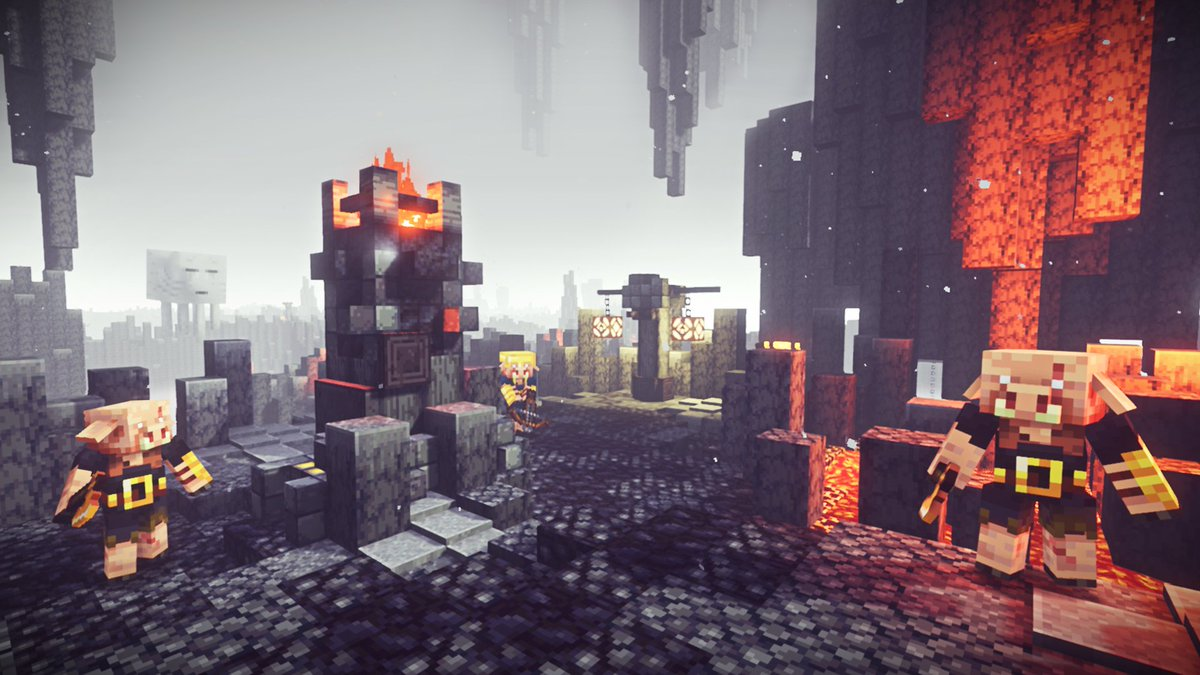 To the Nether you go.  The new @DungeonsGame DLC is here: