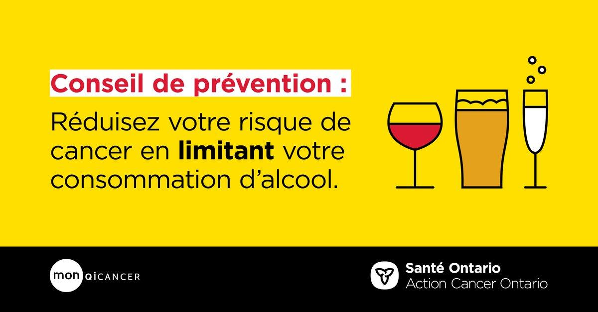 À partir de combien de verres par jour augmente-t-on le risque de développer un cancer du sein? Obtenez la réponse en réalisant une évaluation des risques sur  :  #SantéOntario