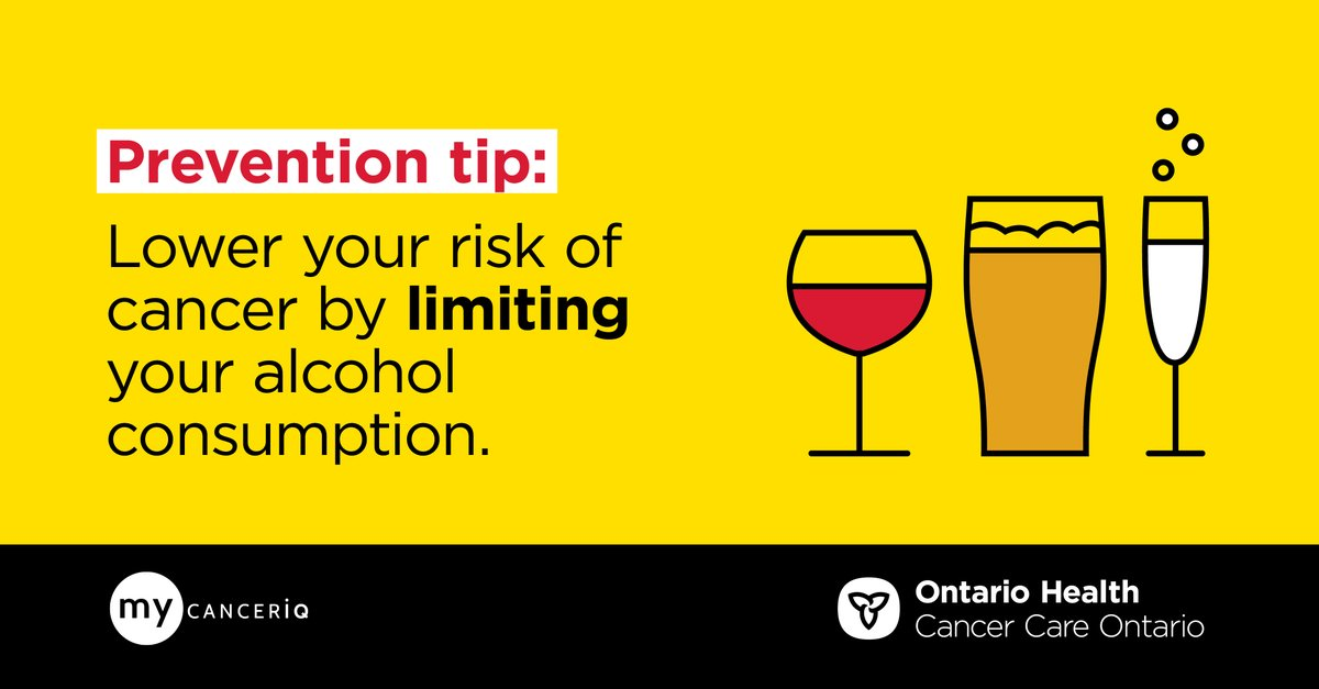 How many drinks a day increase the risk of breast cancer? Find out by completing a risk assessment at :   #OntarioHealth