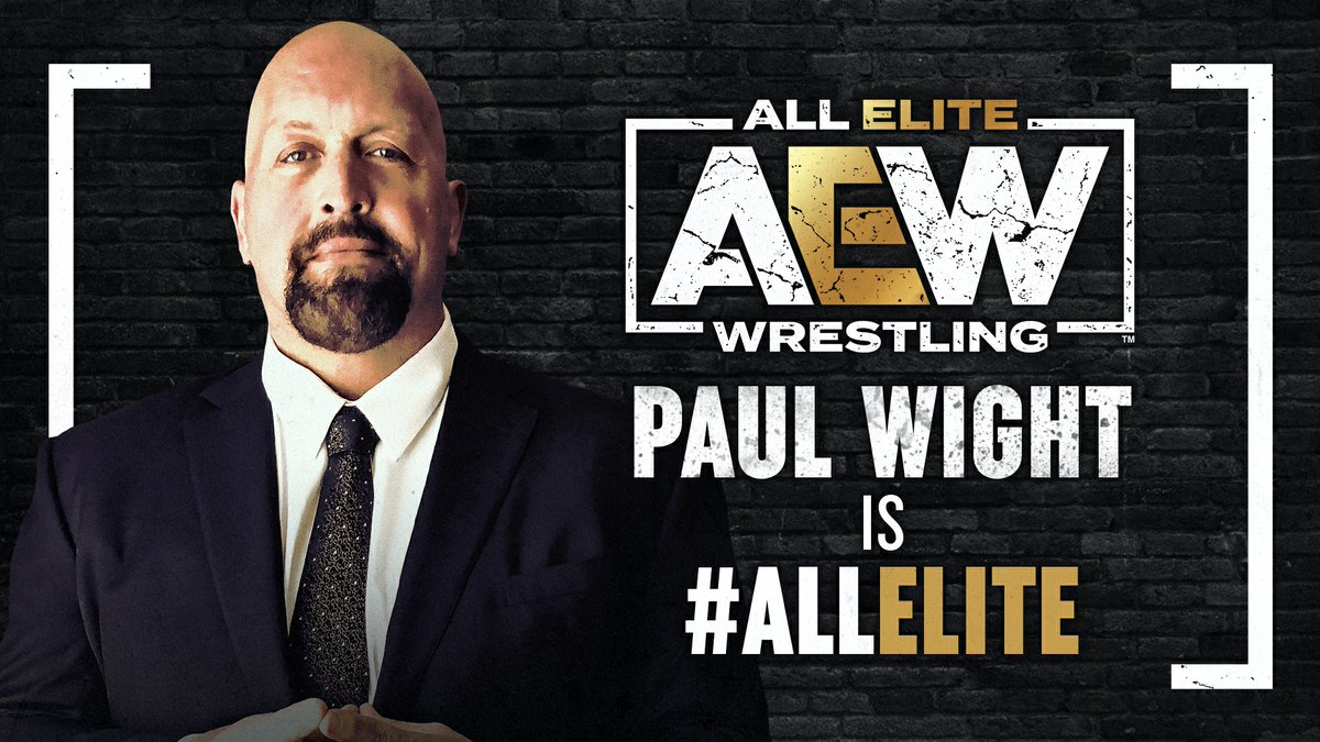 Welcome to the team... @PaulWight is #AllElite For the complete release click here allelitewrestling.com/post/wrestling… Watch #AEWDynamite TONIGHT at 8pm on @tntdrama