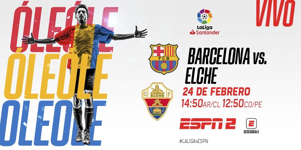 #LaLigaxESPN 🇪🇸 Tras la caída ante #PSG y el duro empate ante #Cádiz, #Barcelona recibe a #Elche con la intención de recuperarse y estar nuevamente más cerca de #RealMadrid y #AtléticoMadrid. https://t.co/u51xG2hb72