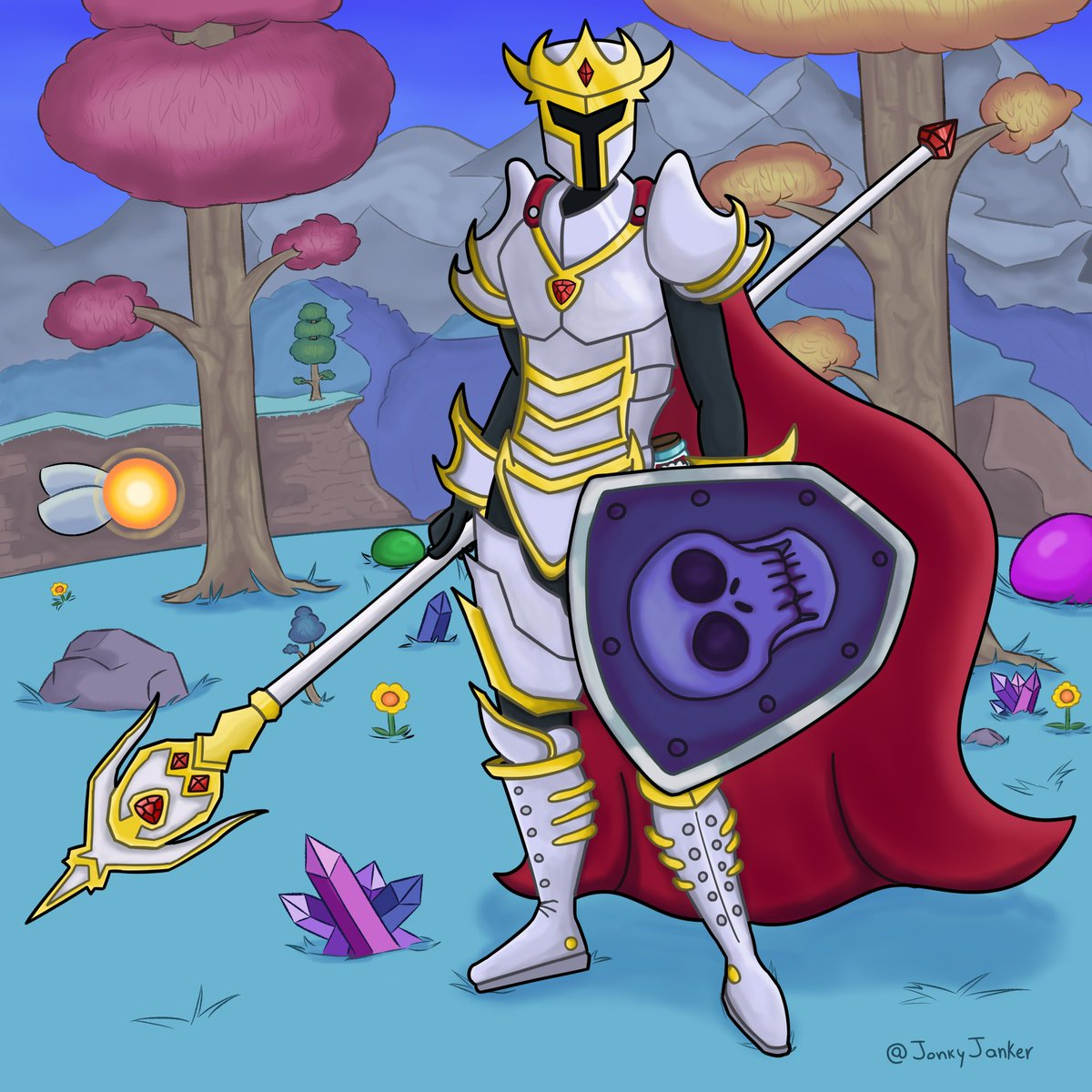Replying to @JonkyJanker: The new design for the hallowed armor on terraria is so AWESOME!! #Terraria