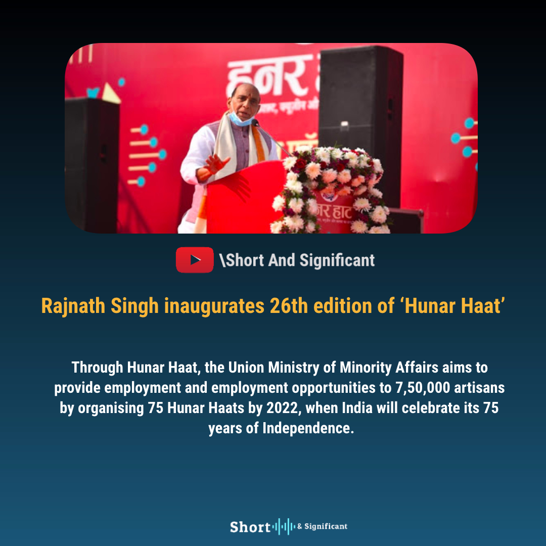 Visit our official channel for more 'GS/GK & Current Affairs' updates! (Link In Bio)  #HunarHaat2021 #Inauguration2021 #minorities  #currentaffairs #BreakingNews #currentevents #gk