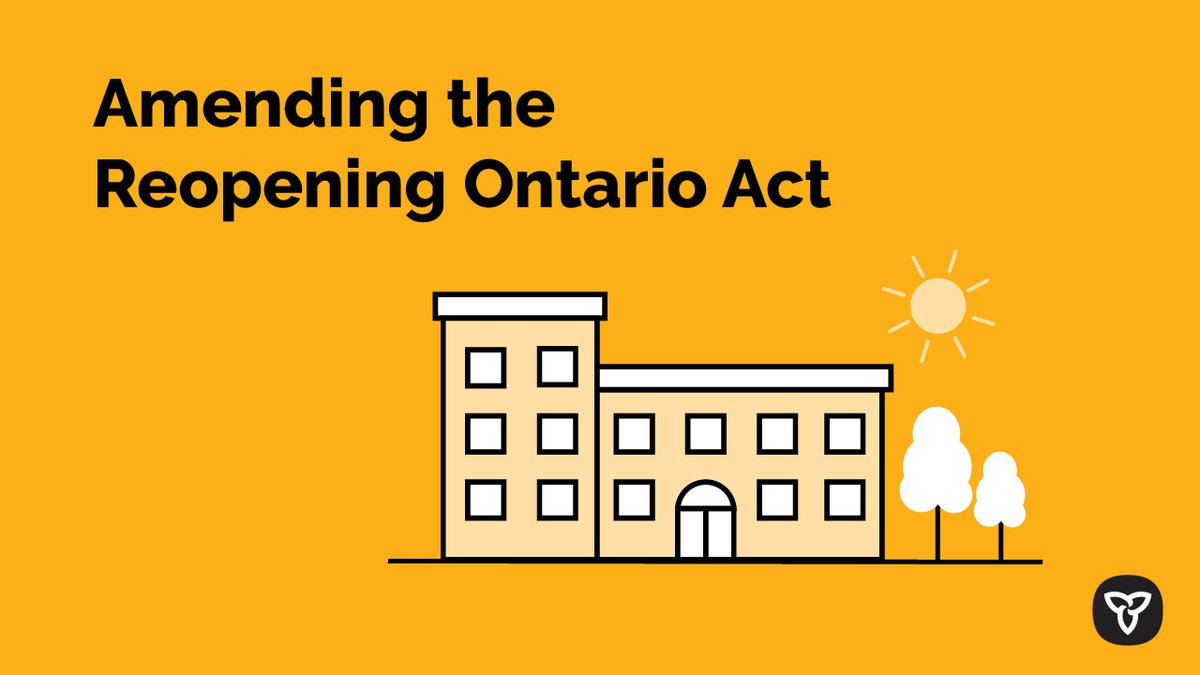 Ontario is helping #pwd get physical therapy during #COVID19. Amending the Reopening Ontario Act gives fitness centres the option to open safely to give access to facilities so people with disabilities can do the therapy needed under safety guidelines.