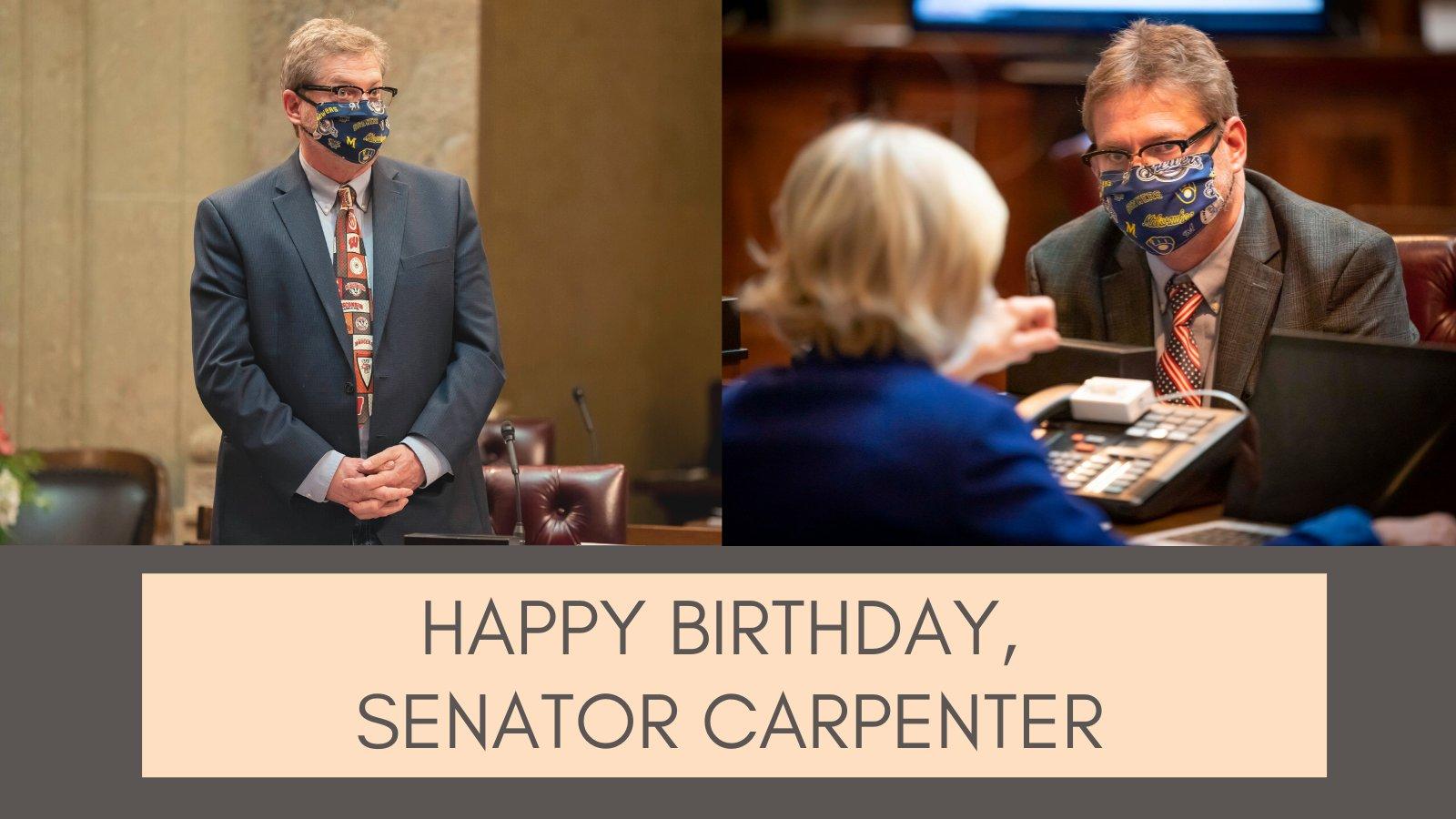 Happy Birthday Sen. Tim Carpenter!  I\m so grateful to serve with you.