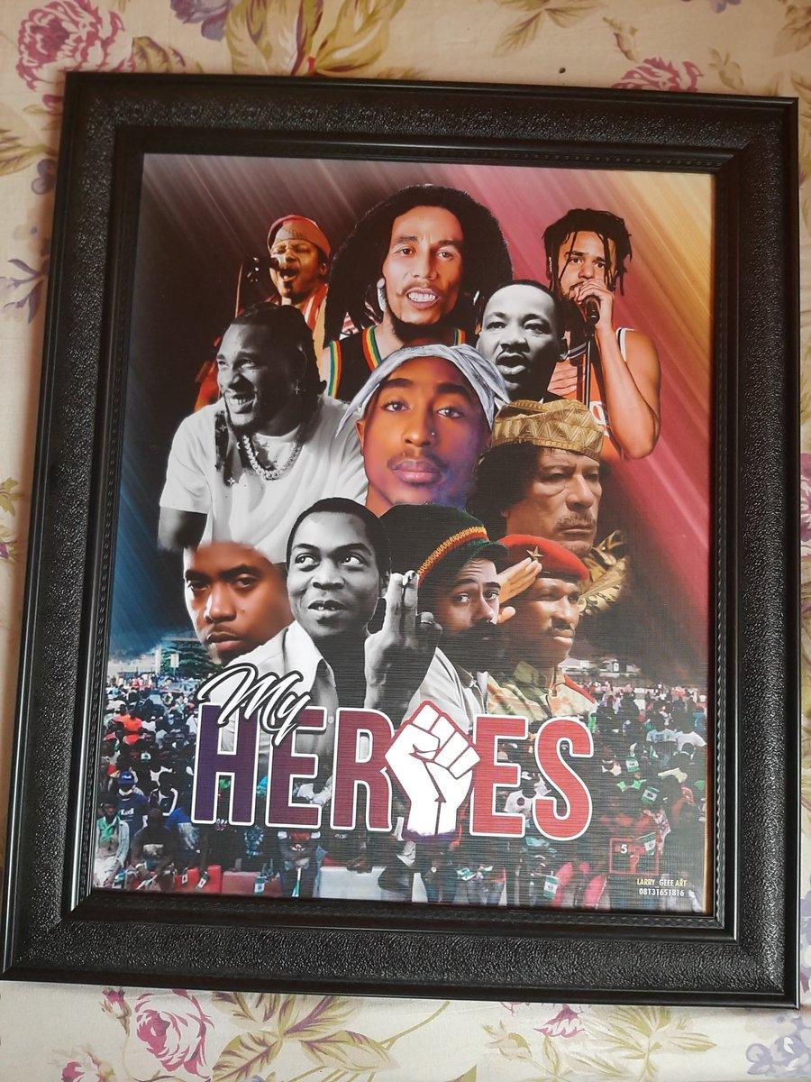 #King Sunny Ade #Bob Marley #J Cole #Burna boy #Tupac Shakur #Martin Luther King #Mu'ammar Al-Qadhdhāfī #Nas #Fela Anikulapo Kuti #Damian Marley #Thomas Sankara  #EndSars Protester (20-10-20)  ✊✊✊