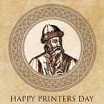 Image for the Tweet beginning: Happy Printers Day! Celebrating Johannes