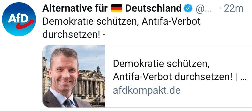 Faschisten wollen Antifaschisten verbieten, weil für Faschisten Antifaschisten Faschisten sind. Wenn Du denkst Du denkst, dann denkst Du nur dass Du denkst, denn beim denken der Gedanken kommt man leicht auf den Gedanken das Faschisten einfach nur Faschisten sind... Klar!?🤪 *jk