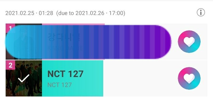 🔷️Idolchamp🔷️  Vote #NCT127 on MV promotion poll     ⏰ 26th February  🔸️Current position: 2nd 🔸️30 votes/day/account   🎁 1 Million impressions of promotion banner on idolchamp  🎁 MV promotion on 120,000 computer screens on 1650 internet cafes