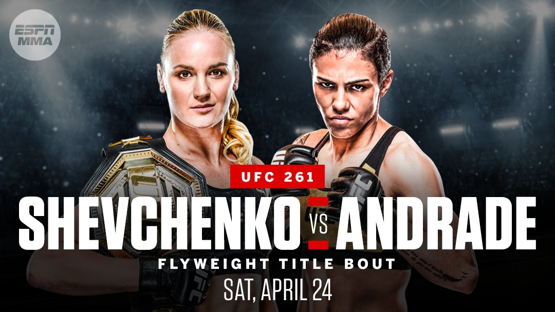 The Bullet is back!  Valentina Shevchenko will defend her flyweight title against Jessica Andrade at UFC 261 on April 24, Dana White told @bokamotoESPN.