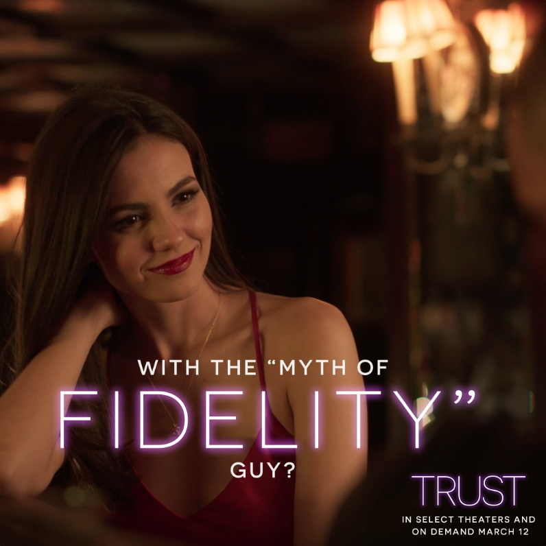 The line between work and play is starting to blur. See Victoria Justice, Matthew Daddario and Lucien Laviscount in #TrustMovie - in select theaters and on demand 3/12.