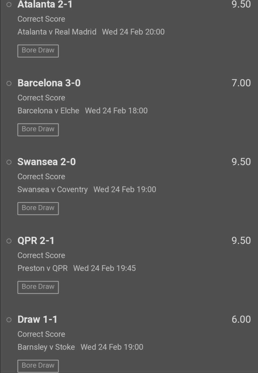 Algoritmik tahminlerden 5 skor seçip oynadım  Sistem, 5in 2lisi:  Atalanta 2-1 Barça 3-0 Swansea 2-0 😂 Barnsley 1-1 Preston 1-2 (bunu ben uydurdum)   Bol şans 🤞   #taburespor #iddaa #besiktas #fenerinmaçıvar #Fenerbahce #besiktasinmacivar #Trabzonspor #Göztepe #Galatasaray https://t.co/ETlW6L9V0K
