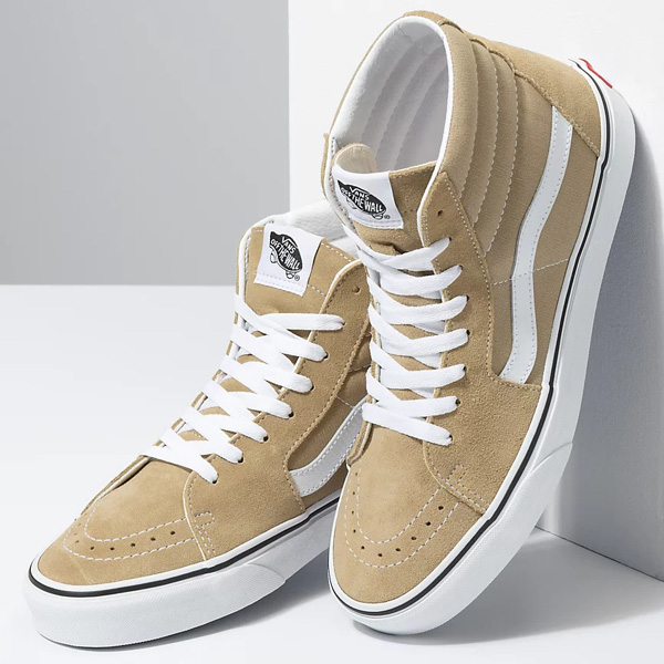 Sizes to 13 are available for these two Vans Sk8-Hi options + FREE shipping for FLX members (free to sign up).  Cornstalk/White ->  ($35.99)  Nebulas Blue/White ->  ($39.99)  ‼️ Use #promotion code FEB20 at checkout.