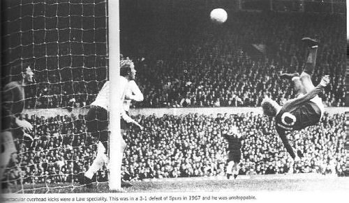 Happy 81st birthday to King Denis Law. 3-1 against Spurs, 1967. I was there.