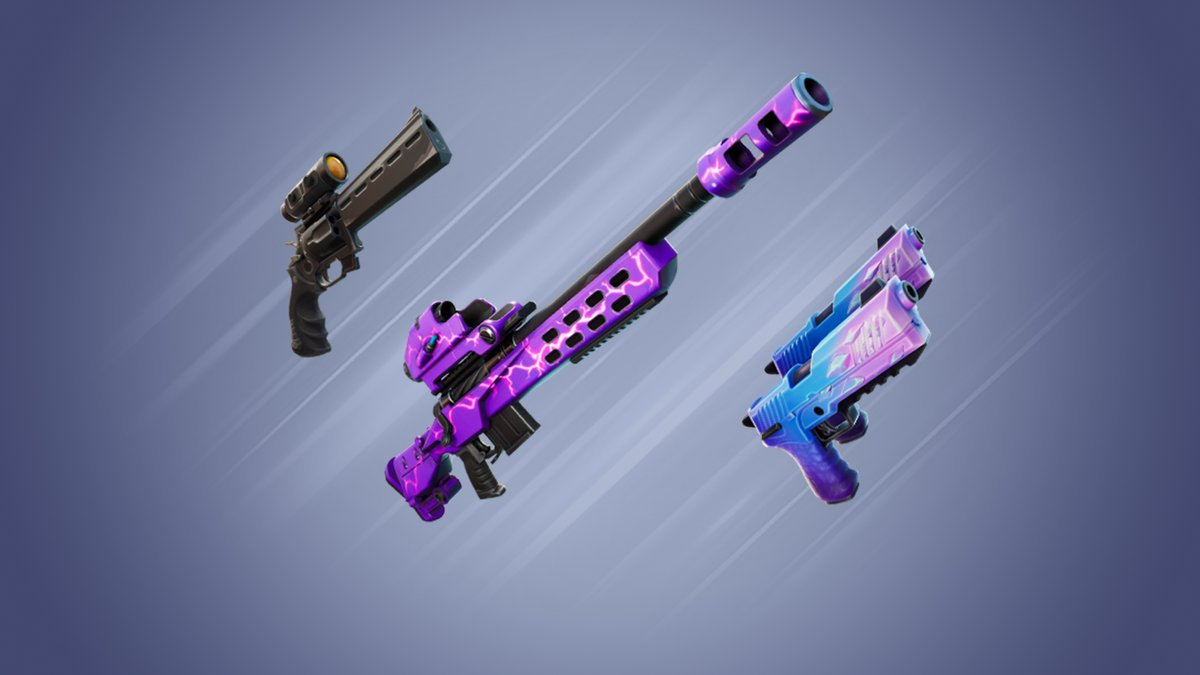 """#RT @FortniteDaily: #Fortnite News Update: Exotics Shuffled """"Mave now has the Storm Scout Sniper, Grimbles """"found"""" the Nighthawk, and Deadfire confiscated the Hop Rock Dualies!"""""""