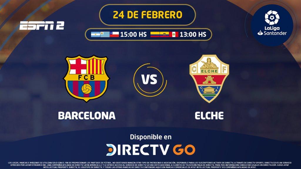 #LaLiga ⚽🇪🇸 | Tras el increíble empate ante Cádiz, Barcelona recupera el partido postergado ante Elche. ¿Conseguirá el triunfo?  Síguelo por ESPN 2 en @DIRECTVGO ➡ https://t.co/Bm505HkYur https://t.co/20axlCVMFX