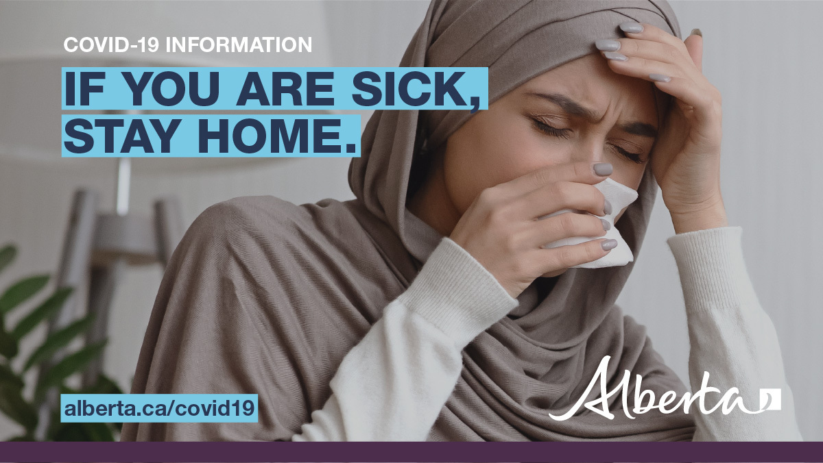 If you are feeling sick or have any symptoms related to #COVID19AB, stay home. Supports are available while you are sick or are in isolation due to #COVID19. Learn about the Canada Recovery Sickness Benefit & the Canada Recovery Caregiving Benefit at canada.ca/en/department-…