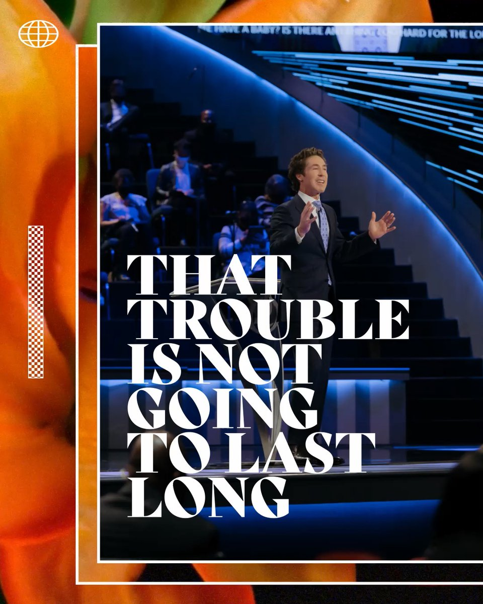 """That trouble looks permanent, but God is saying it's not going to last very long. It's not by your might, not by your power, but by the Spirit of the living God. Be inspired by this message from Joel, """"Trouble is Temporary"""".   Check it out here:"""