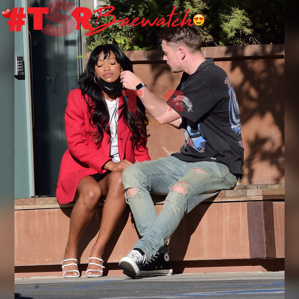 Keke Palmer & her boo spotted out on a lil dzate!